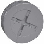 Hubbell Electrical Products PT-75-AL Closure Plugs, Gray, 3/4-In., 3-Pk.
