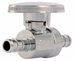 Watts Brass & Tubular P-653 Brass Barb Ball Stop Valve, 3/8 x 3/8-In.