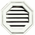 Builders Edge 120011818123 18-Inch Octagon Gable Vent - White